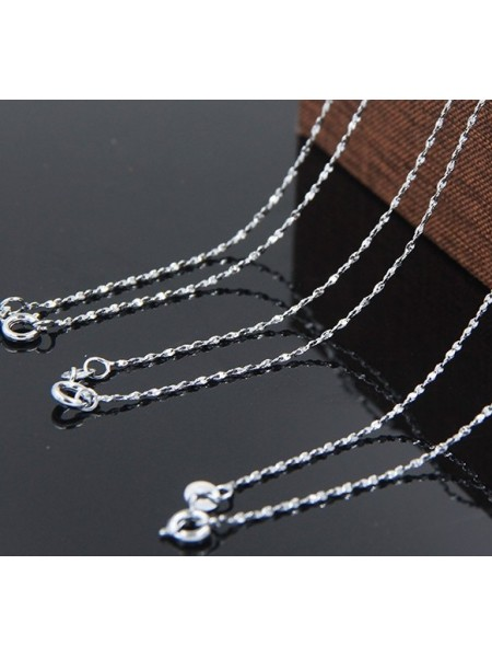 Цепочка с покрытием серебра (925°)с замочком,45 см
