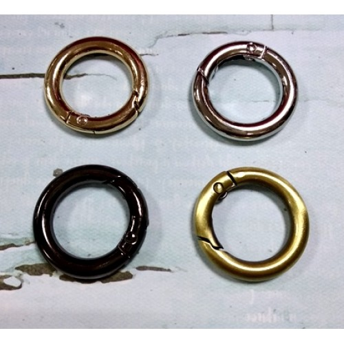 Кольцо-карабин, цв-золото,20мм