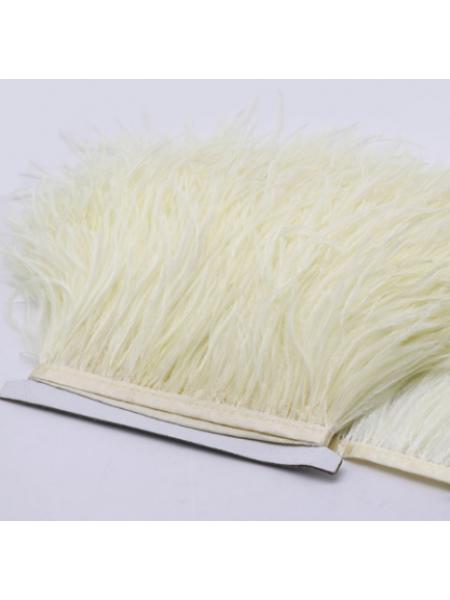 Тесьма из перьев ,цвет №18 КРЕМОВЫЙ, цена за 10 см