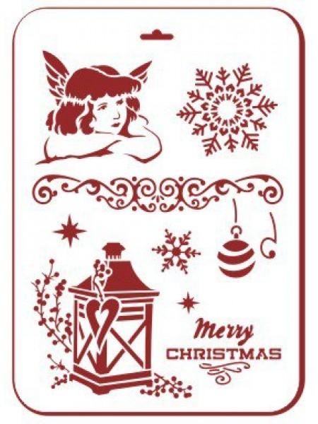 Трафарет новогодний, многоразовый