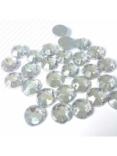 Стразы пришивные ,стекло-10 мм.круглые,цена за 1 шт