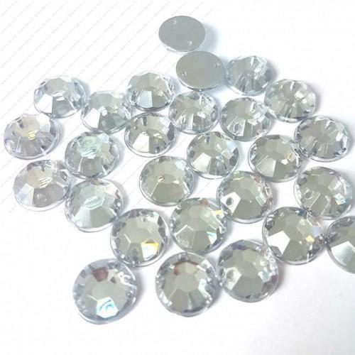 Стразы пришивные ,стекло-8мм.круглые,цена за 1 шт