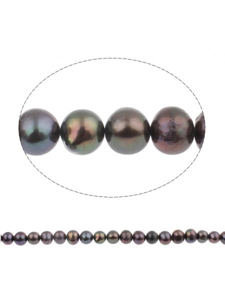 Жемчуг культивированный,черный,8-9 мм,Цена за 1 шт