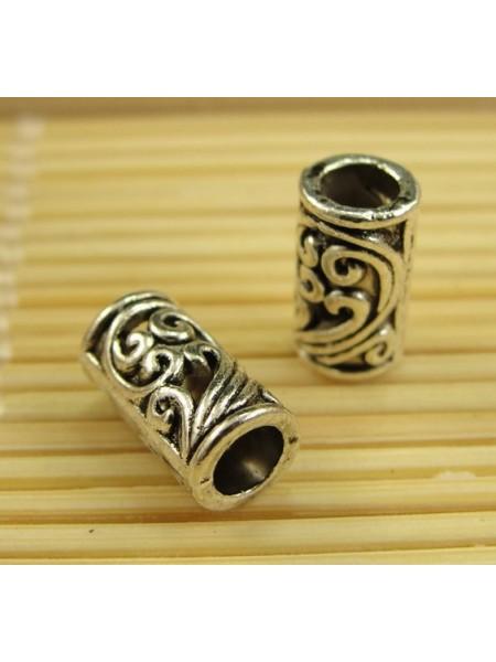 Бусина металлическая,9*5 мм,цв-античное серебро,цена за 1 шт