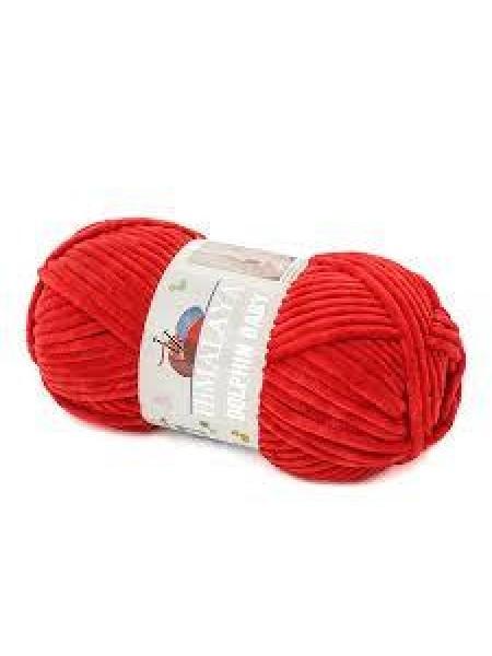 Плюшевая пряжа Долфин Бэби,цв-красный,№318,100гр