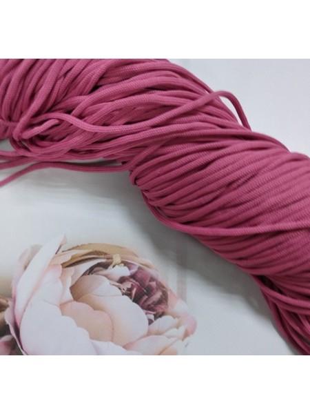 Полиэфирный шнур для вязания,4мм,цв-тёмно-розовый,100м