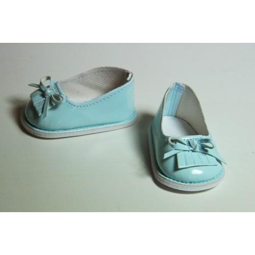 Туфельки голубые лаковые