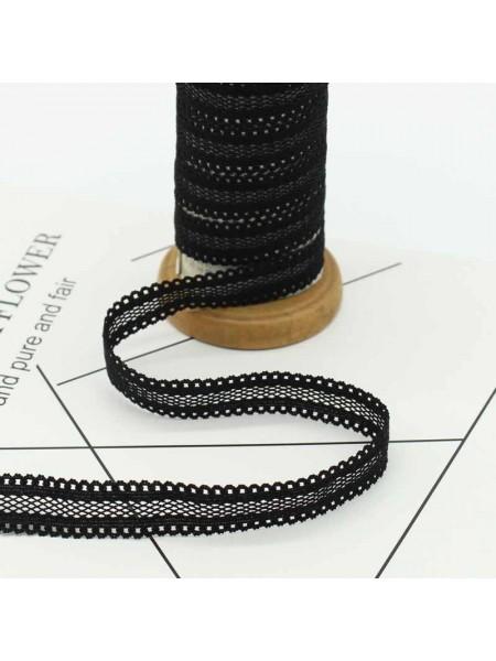 Резинка эластичная,1,6см-ажурная.черная. цена за 1 метр