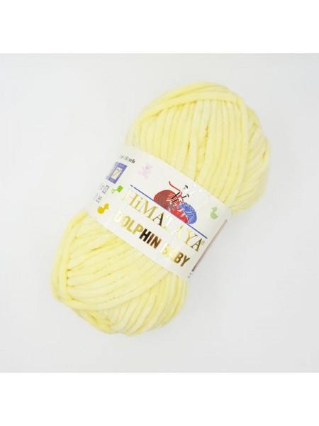 Плюшевая пряжа Долфин Бэби,цв.желтый,№302,100гр