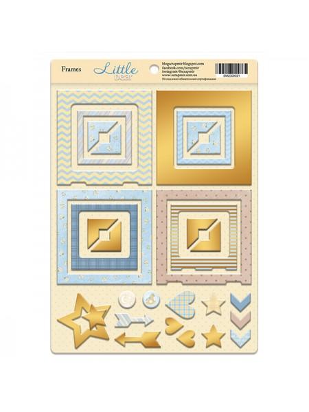 Рамочки из чипборда с золотым фольгированием Little Bear, 30эл. от Scrapmir