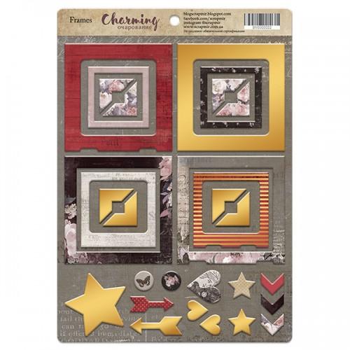 Рамочки из чипборда с золотым фольгированием CHARMING (ОЧАРОВАНИЕ), 30эл. от Scrapmir