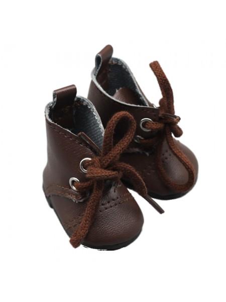 Ботиночки тёмно-коричневые, 5см
