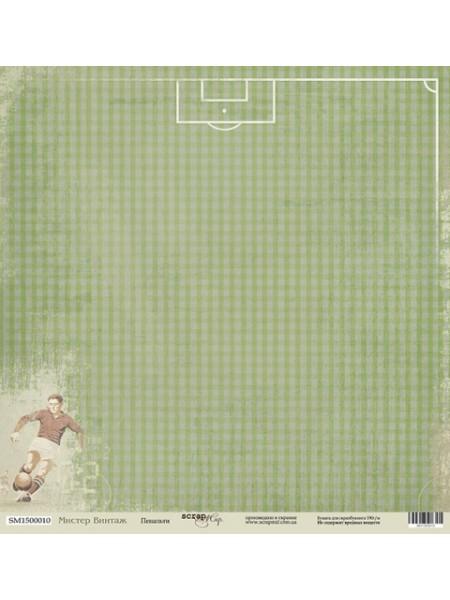 Лист односторонней бумаги 30x30 от Scrapmir Пенальти из коллекции Мистер Винтаж