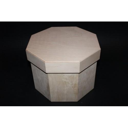 Заготовка №-28-Коробка 8-ми угольная со съемной крышкой,САМОВЫВОЗ,размер 195-250-250 мм