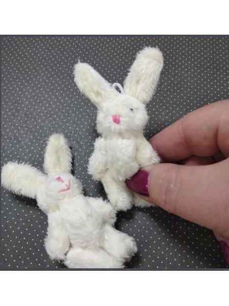 Игрушка для куклы(зайчик молочный),6см