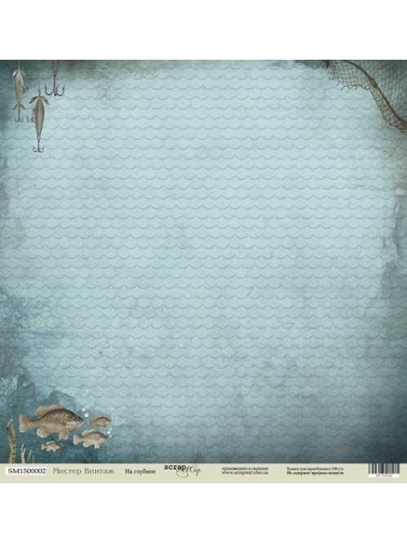 Лист односторонней бумаги 30x30 от Scrapmir На глубине из коллекции Мистер Винтаж