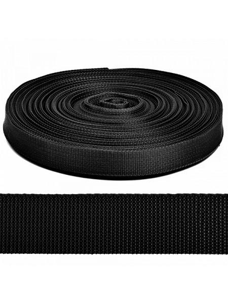 Стропа-ременная лента, 38 мм,цв-чёрный.цена за 1 м