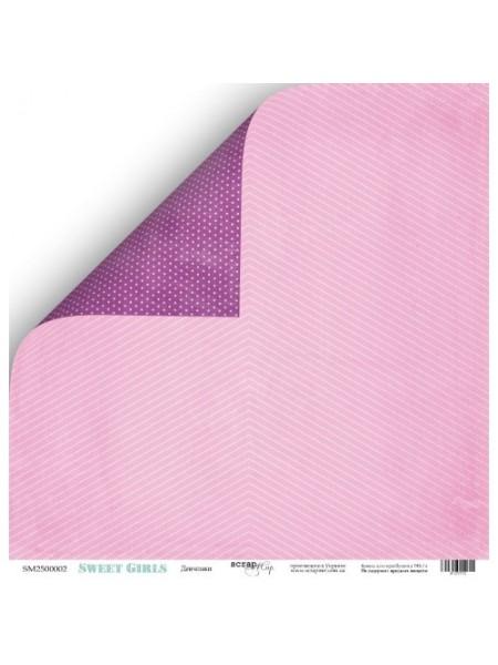 Лист двухсторонней бумаги 30x30 от Scrapmir Девчонки из коллекции Sweet Girls