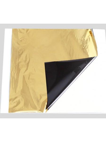 Поталь двухцветная,14*13 см,.цв-черно-синий-золото. Цена за 5  шт