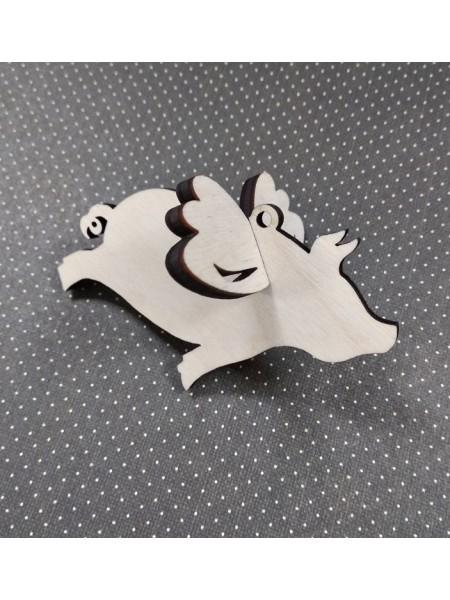 Заготовка для новогодней игрушки-Свинка с крыльями, 3D, 75*45мм