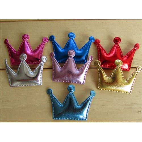 Патч-декоративный элемент,корона-голубая,размер 4,5*3см