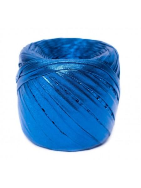 Трикотажная пряжа Maccaroni металлик,цв-синий