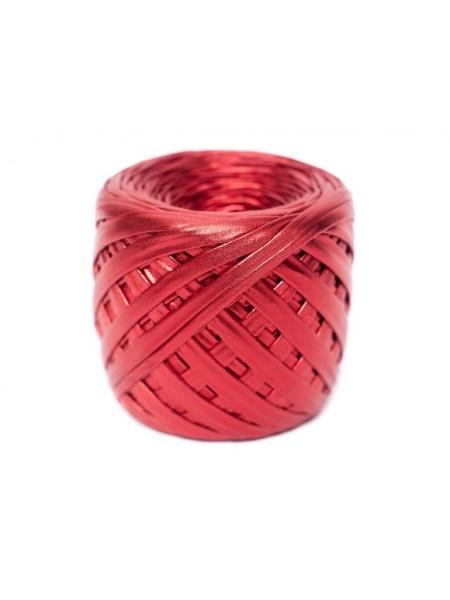 Трикотажная пряжа Maccaroni металлик,цв-красный