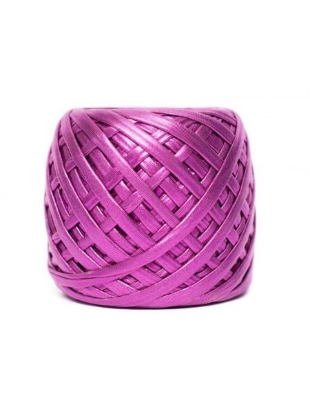 Трикотажная пряжа Maccaroni металлик,цв-розовый(ягодный)