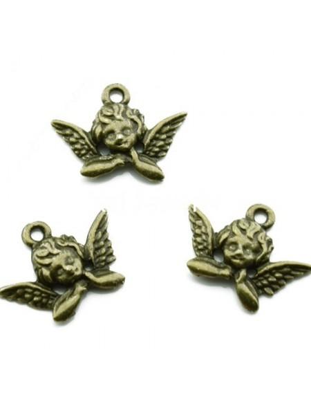 Подвеска ангелочек №1, бронза,цена за 1 шт
