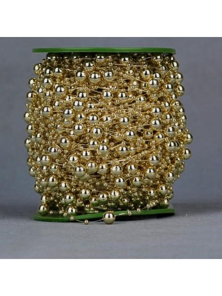 Бусины на леске,золото, цена за 1 м