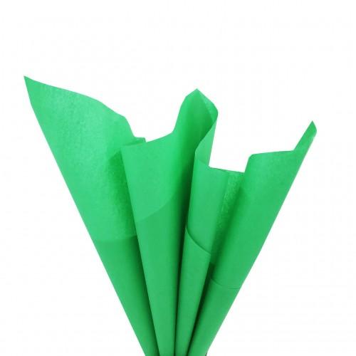 Папиросная бумага тишью,зелёная,цена за 10 листов