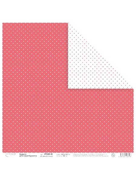 Бумага,двусторонняя,Мелкие точки, цв.красный