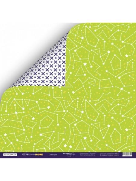 Лист двусторонней бумаги 30x30 от Scrapmir Созвездие из коллекции Ticket to the Moon