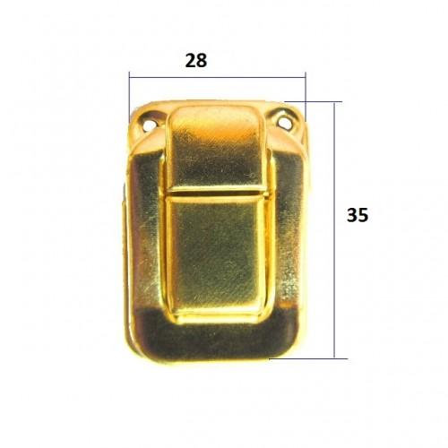 Замок для шкатулок, кейсов с шурупами,цв-золото,цена за 1 шт