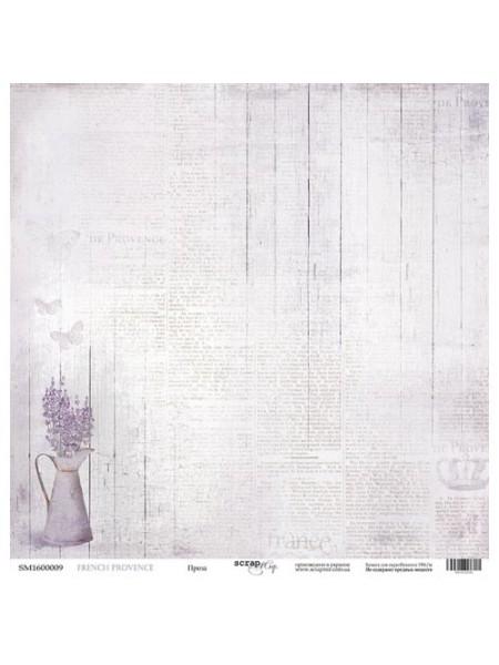Лист односторонней бумаги 30x30 от Scrapmir Проза из коллекции French Provence