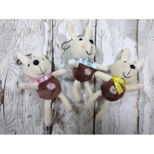 Игрушка для куклы- зайчик коричневый,12 см