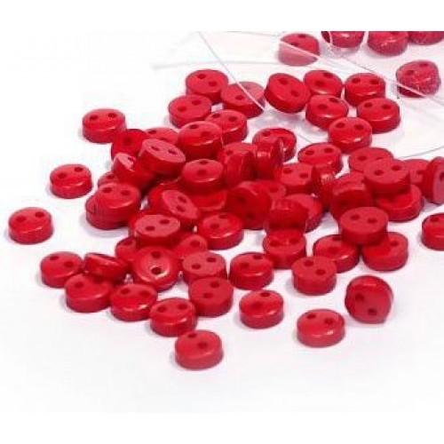 Пуговицы мини-6мм,цвет красный. Цена за 1 шт
