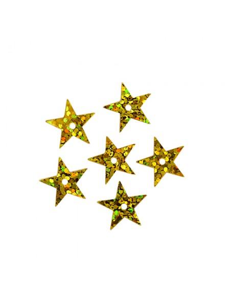 Пайетки 'звездочки,цв-золото-голограмма,20мм, А77-20