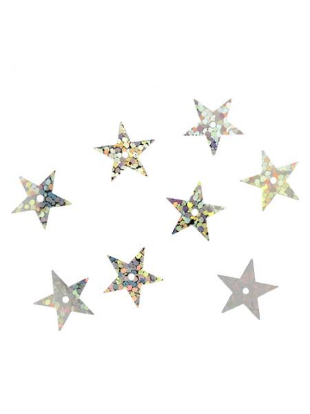 Пайетки 'звездочки,св.-серебро голограмма,13мм А052-2