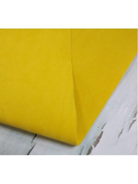 Искусственная замша,18*35см,цв-жёлтый