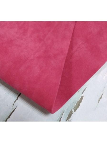 Искусственная замша,18*35см,цв-тёмно-розовый