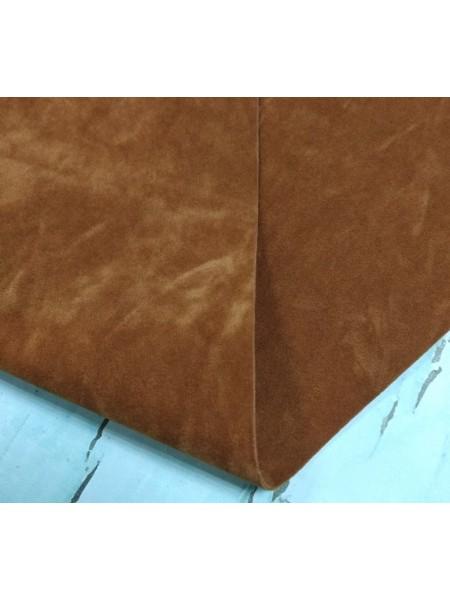 Искусственная замша,18*35см,цв-рыже-коричневый