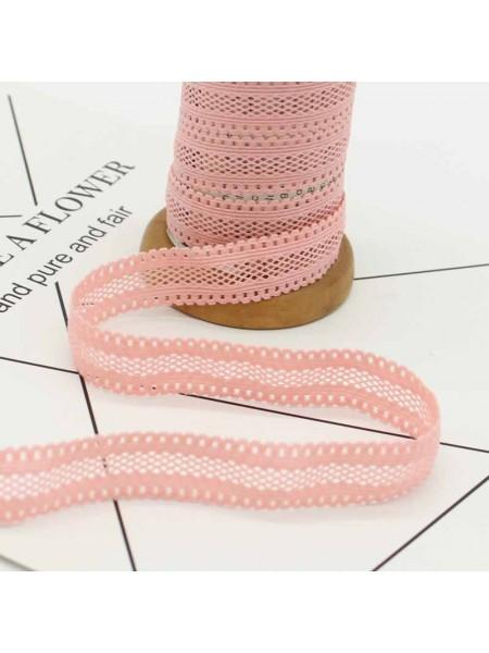 Резинка эластичная,1,6см-ажурная.розовая. цена за 1 метр