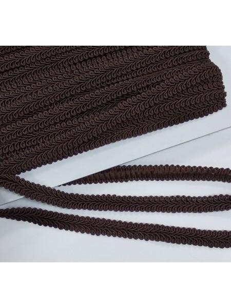 Тесьма Булет,цв-коричневый. шир 11 мм,цена за 1 м