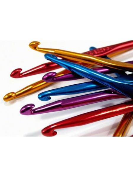 Крючок для вязания,6мм, металлический.цв-золото