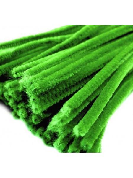Синельная проволока(шенил)зелёная,цена за 10 шт