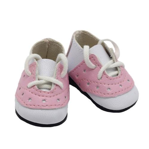 Туфельки, цвет белый+розовый, 5см