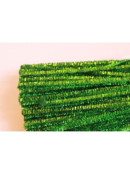 Синельная проволока(шенил),салатовый металлик,цена за 10 шт
