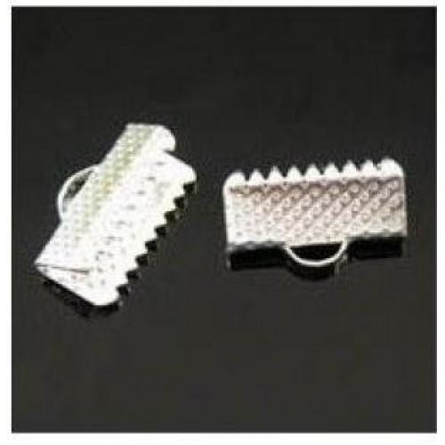Зажим для ленты( браслета), цв-серебро,13 мм, цена за 1 шт