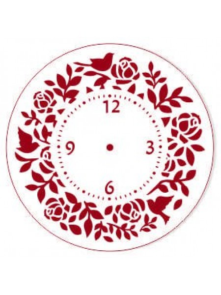 Трафарет пластиковый, многоразовый-часы,15см
